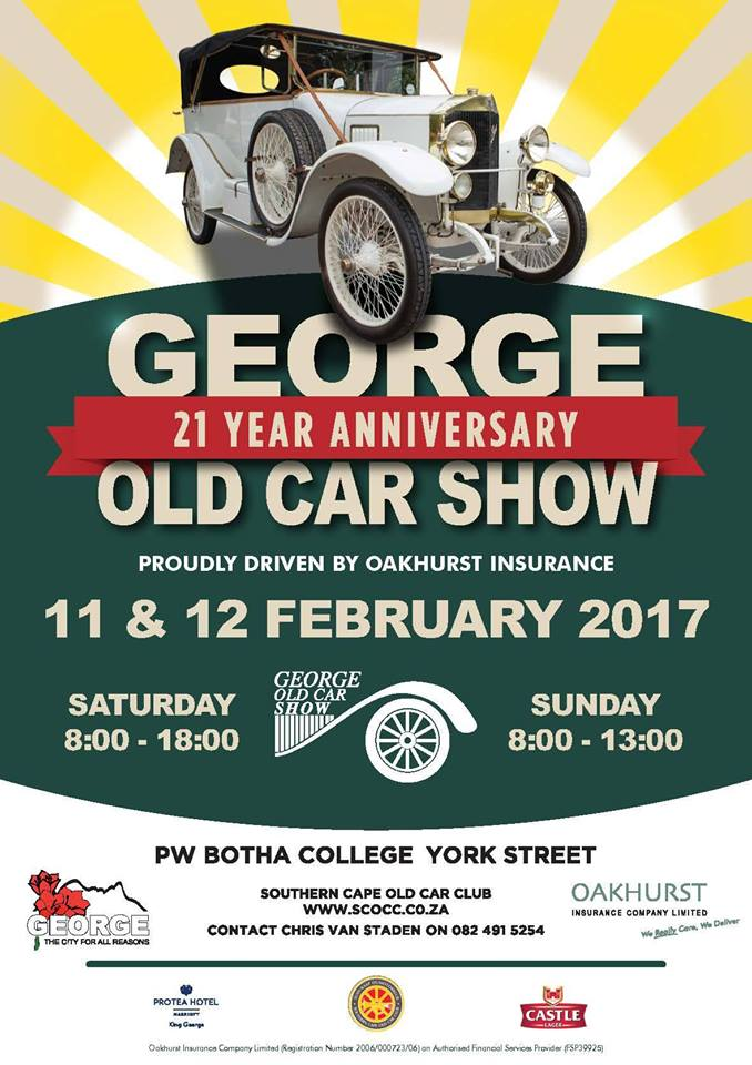 George Old Car Show Drive South Africa - Old car shows