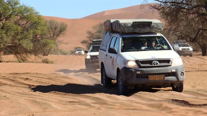 Four-wheel-drive in Namibia
