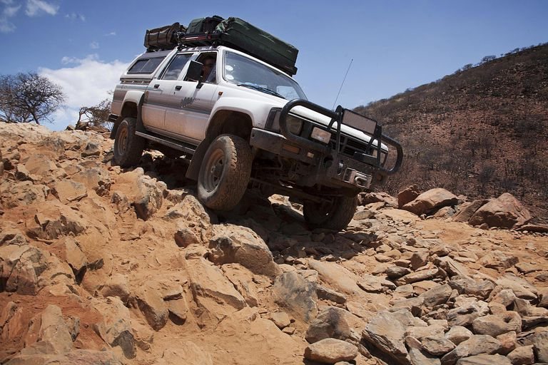 Driving off road in Namibia