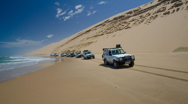 Luderitz and Walvis Bay beach driving
