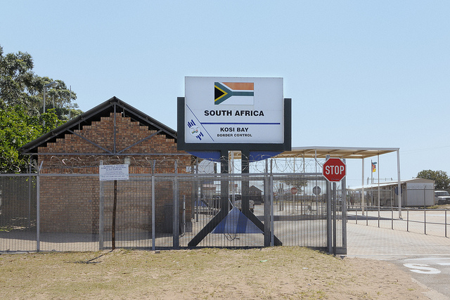 Border crossing in South Africa