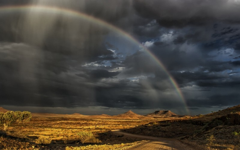 A recent rain storm in Namibia