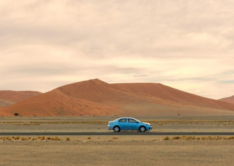 Travelling by car through Namibia