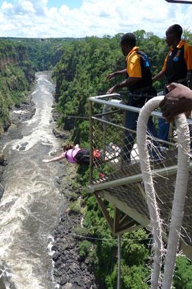 Bungee Jump from Zambezi Bridge
