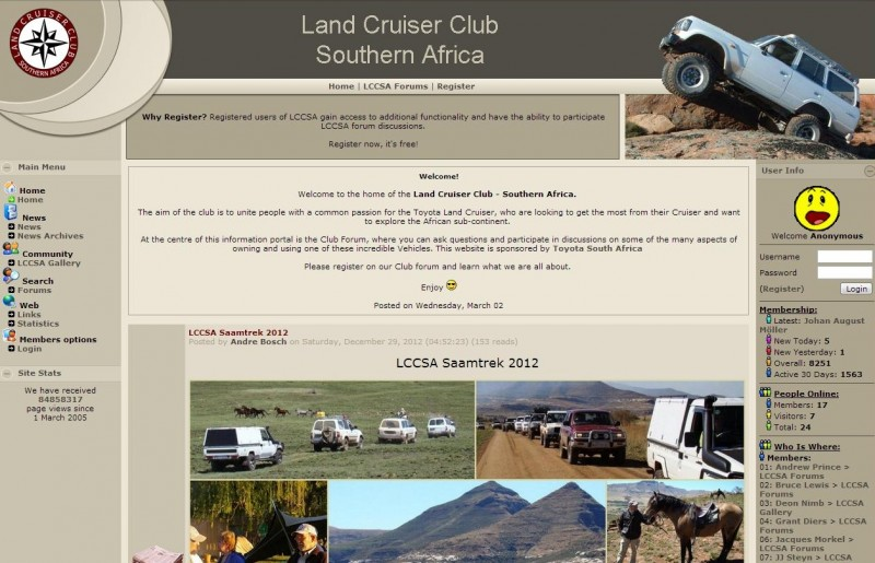 South African 4x4 forum - Land Cruiser Club Forum