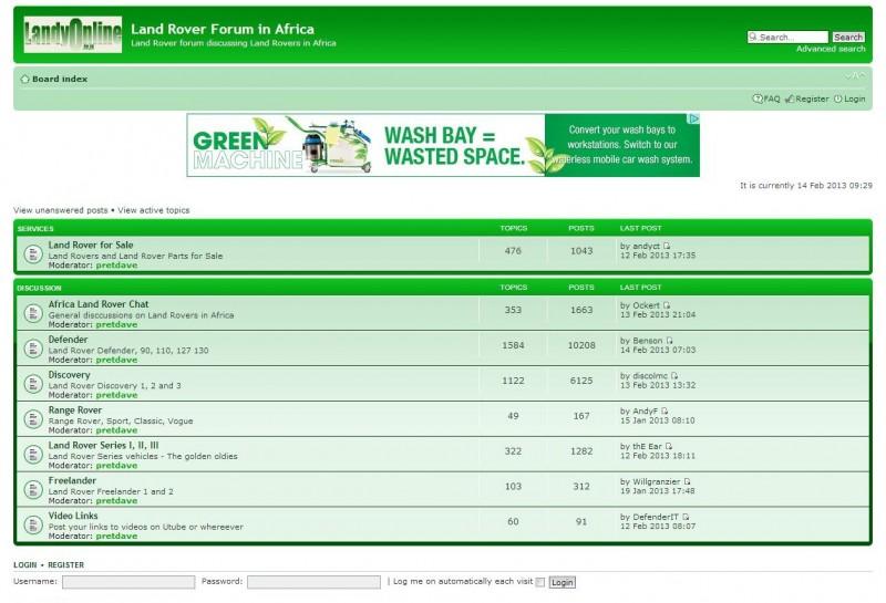 South African 4x4 forums - Landy Online 4x4 Forum