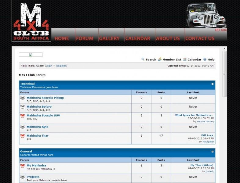 South African 4x4 fan forums - Mahindra 4x4 Club Forum