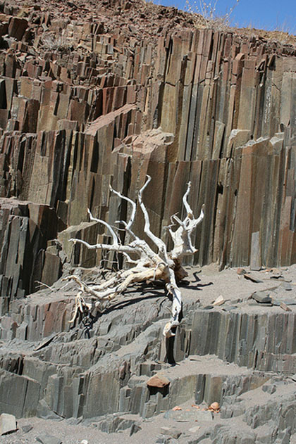 Namibia 4x4 trails and off-road routes Namibia Organ Pipes Damaraland