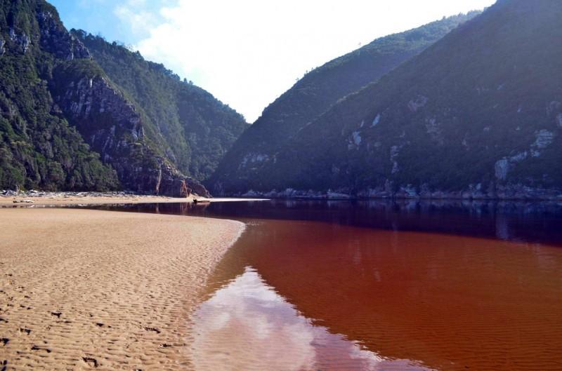 Elandbos River Crossing on the Otter Hiking Trail
