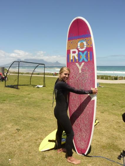 Surfing Big Bay Blouberg