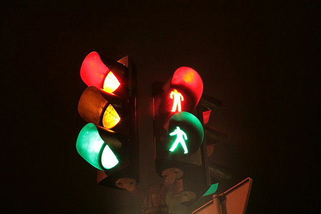 Traffic lights are called in